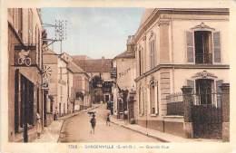 78 -GARGENVILLE : Grande Rue ( Commerces Tabac Café Deschamps ) - CPA CPSM 1955 - Yvelines - Gargenville