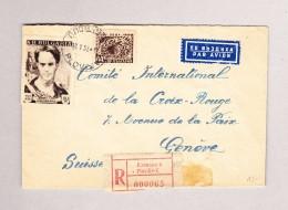 Bulgarien PLOVDIV 16.5.1953 Flugpost R-Brief Nach Genf Croix Rouge - 1945-59 République Populaire