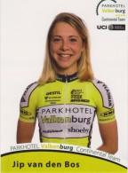 Women Cycling Card JIP VAN DEN BOS Parkhotel Valkenburg Continental Team 2016 Netherlands - Ciclismo