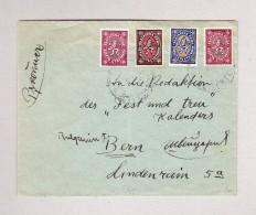 Bulgarien Bunte Frankatur Auf Brief Nach Bern - 1945-59 République Populaire
