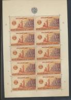 1946  En Feuillet De 10 Sans Charnière Mais Plié Une Fois  Cote 600 Euros Dans Sassone 2003 - San Marino