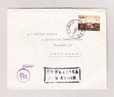 """Bulgarien SOPHIA 25.3.1941 Luftpost Brief Nach Lausanne Mit Stempel """"Par Avion"""" - 1909-45 Kingdom"""