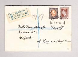 Bulgarien BOURGAS 14-6-1930 R-Brief Nach London - 1909-45 Royaume