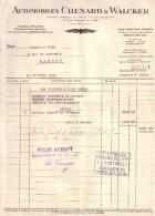 """HAUTS DE SEINE - GENNEVILLIERS - ENTÊTE """" RAPACE , AIGLE ...... """" - AUTOMOBILE , AUTOMOBILES """" CHENARD & WALKER """" - 1935 - Cars"""