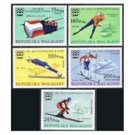 Madagascar 1976 Innsbruck Olympic Games Sports Ski Jump Speed Skating Stamps MNH SC 538-540 Mi 767-771 - Madagascar (1960-...)