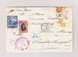 Bulgarien Besetzung Türkei Erdin 1918 Zensur.-R-Brief Nach Constantinople Mit 10 Und 25 St - War
