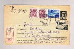 Bulgarien VIDINE 22.5.1953 R-Brief Nach Genf - Covers & Documents