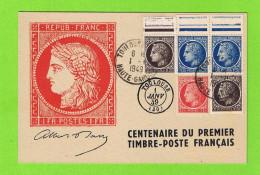 CENTENAIRE DU PREMIER TIMBRE-POSTE FRANCAIS 1949 TOULOUSE - Cartes-Maximum