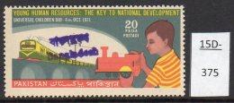 Bangladesh Provisional Overprint Of Pakistan Train / Bridge / Child Design U/m (MNH) -see Text - Trains