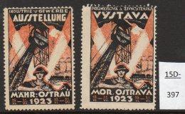 Mährisch-Ostrau Czechoslovakia Ostrava 1923 Exhibition Railway Train Bridge Mining Poster Cinderella(2) - Czechoslovakia