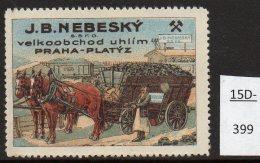 Czechoslovakia Poster Cinderella Mine Railway Train / železnice / Horse Cart – Coal / Uhlí / Kohle / Charbon / Mi