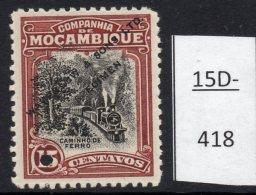 Mozambique Co. 15c Railway Train Waterlow Sample / Specimen In Unissued Colours MNG - Trains