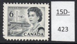 Canada 1967 6c Black Railway Train Eisenbahn – Printed On The Gummed Side. See Text.