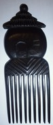 Peigne En Ebene Africain Représentant Une Case - TOGO AFRIQUE Années 1970 - Art Africain
