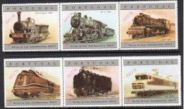 Portugal 1976/77 Optd 1977/78 Anti-TB Campaign Cinderella Labels – Railway / Train / Eisenbahn / Estrada De Ferro - Trains