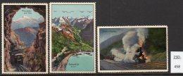 Switzerland : THREE Poster Stamps / Cinderella : Train Railway Eisenbahn Chemin De Fer Ferrocarril - Switzerland