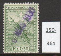 Switzerland Fr0.50 Comune Di Chiasso Revenue Train Railway Eisenbahn Chemin De Fer Ferrocarril - Switzerland