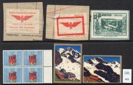 Switzerland : Three Poster Stamps + 6 Cinderella : Train Railway Eisenbahn Chemin De Fer Ferrocarril - Switzerland