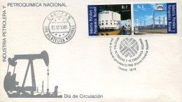 15191 Venezuela,  Fdc 1985 Oil Industry,  Petrochemical Industry - Petrolio