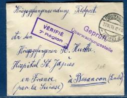 ALLEMAGNE - Enveloppe En Franchise De Furstenwalde Pour Prisonnier De Guerre En France En 1915   Réf  N 2