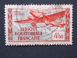 Timbre ( Ex-colonies & Protectorats ) A.E.F Poste Aérienne N° 34 Oblitération BRAZZAVILLE - A.E.F. (1936-1958)