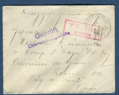 ALLEMAGNE - Enveloppe En Franchise De Jngenheim Pour Prisonnier De Guerre En France En 1915   Réf  N 3