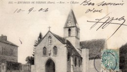 610Cci   27 Ecos Environs De Vernon L'église (vue Pas Courante) - France