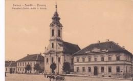 ZEMUN_SEMLIN_ZIMONY HAUPTPLATZ_KATHOLISCH KIRCHE U. SCHULE - Serbie
