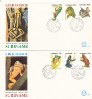 DC0576 SURINAM FDC 1981 - FROGS (2x) - Frogs