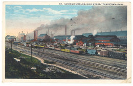 Cpa Usa - Carnegie Steel Cp Ohio Works, Youngstown, Ohio ( Chemin De Fer, Train, Usine )  ((S.704)) - Etats-Unis