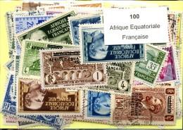 100 Timbres Afrique Equatoriale Francaise
