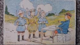 CPA GUERRE 14   JEU D ENFANTS  HAUT LES MAINS DESSIN SIGNE FORMMISYN ? - Guerra 1914-18