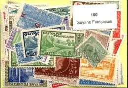 100 Timbres Guyane Francaise