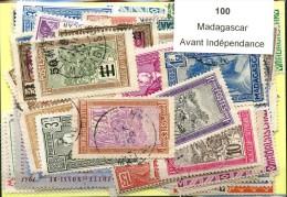 100 Timbres Madagascar Avant Independance