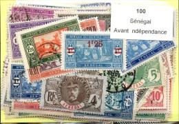 100 Timbres Sénégal Avant Independance