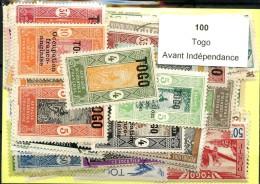 100 Timbres Togo Avant Indépendance