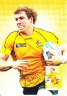 Australia 2012 Maxicard Scott #3631 60c David Pocock Athletes Australian Legends First Day Issue - Cartoline Maximum