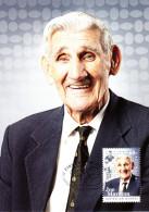 Australia 2012 Maxicard Scott #3632 60c Joe Marston Athletes Australian Legends First Day Issue - Cartoline Maximum