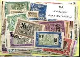 150 Timbres Madagascar Avant Independance