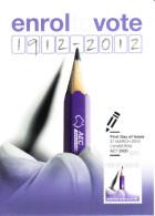 Australia 2012 Maxicard Scott #3675 60c Centenary Mandatory Voting First Day Issue - Cartoline Maximum