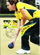 Australia 2012 Maxicard Scott #3804 60c Women Lawnbowling First Day Issue - Cartoline Maximum