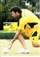 Australia 2012 Maxicard Scott #3805 $1.20 Men Lawnbowling First Day Issue - Cartoline Maximum