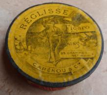 ANCIENNE BOITE :  REGLISSE  FIGARO  -  ANIS  25 Grammes  - CARENOU & Cie MOUSSAC  Gard - Boxes