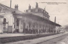 CPA - 87 - Saint-Sulpice-Laurière - Intérieur De La Gare - Vue Rare ! - 2 Scans - - France