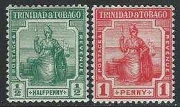 Trinidad & Tobago  1913   Sc#1-2  1/2d & 1d  MNH**   2016 Scott Value $5.25 - Trinité & Tobago (...-1961)