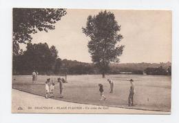 Golf De Deauville Et Golfeurs - Plage Fleurie Enfants - Golf