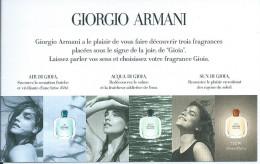 Armani - Perfume Cards