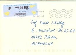 Frankreich Paris Schalterfreistempel - Label 2016 Papierflugzeuge - Poststempel (Briefe)