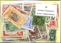 75 Timbres Guinée Francaises Avant Indépandance