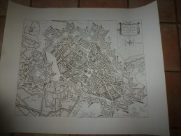 Grande Carte Ancienne INSULARUM, Gallice LILLE Et RYSSEL Belgice  , Auctore F. De Witt. Amflelodami Cum Privilegio ... - Cartes